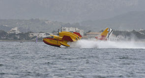 Canadair taking water 024 Royalty Free Stock Images