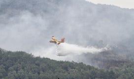 Canadair throwing water 031 Royalty Free Stock Image