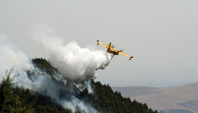 Canadair vs fire Royalty Free Stock Photos