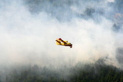 Canadair vs fire Royalty Free Stock Photo