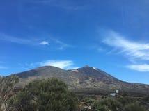 canadas canary del islands las西班牙teide tenerife谷火山 库存图片