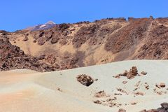 canadas canary del islands las西班牙teide tenerife谷火山 免版税库存照片