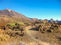 canadas canary del islands las Ισπανία tenerife teide ηφαίστειο κοιλάδων Στοκ Εικόνα