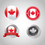 Canadas County design. Maple leaf icon. Seal stamp illustration. Canadas country represented by his flag of maple leaf Royalty Free Stock Photography