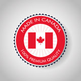 Canadas County design. Maple leaf icon. Seal stamp illustration. Canadas country represented by his flag of maple leaf Stock Photo
