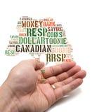Canadees besparingenconcept Stock Afbeeldingen