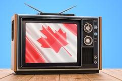 Canadees 3D Televisieconcept, vector illustratie