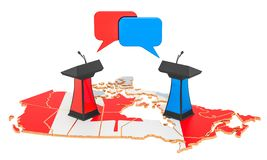 Canadees Debatconcept, het 3D teruggeven royalty-vrije illustratie