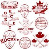 Canadees hockey symbolset vector illustratie