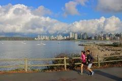 Canadees Paar en Vancouver Stock Afbeeldingen
