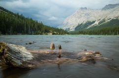 Canadees Rocky Mountains Lake in Alberta, Canada stock fotografie