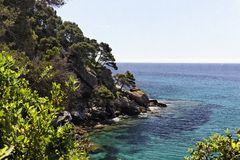 French mediterranean coast, Cote d'Azu Stock Photography