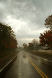 Canadense Autumn Road Imagens de Stock
