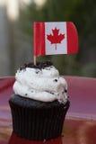 Canadense do queque da cookie do chocolate Foto de Stock