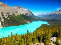 Canadense Montanhas Rochosas e lagos Fotografia de Stock