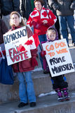 Canadenses para a democracia Fotografia de Stock Royalty Free