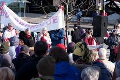 Canadenses para a democracia Fotografia de Stock