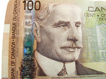 Canadese 100 dollarrekening Royalty-vrije Stock Foto