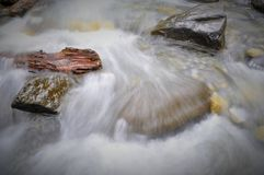 Canadese aard - bergrivier in langzame motie Stock Foto's