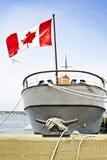 Canadese boot bij haven Stock Afbeeldingen
