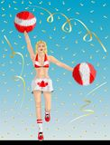 Canadese Cheerleader van de Ventilators van Canada stock illustratie