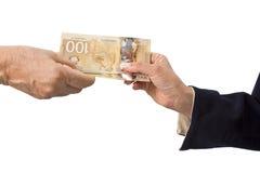 Canadese dollarbankbiljetten Stock Fotografie