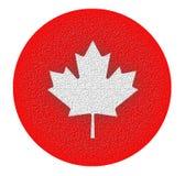 Canadese eh - Gestileerd Esdoornblad royalty-vrije stock foto