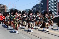 Canadese het Marcheren Band Royalty-vrije Stock Afbeeldingen