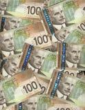 Canadese honderd dollarsrekeningen Stock Foto's