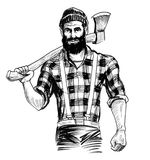 Canadese houthakker royalty-vrije illustratie