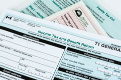 Canadese individuele belastingsvorm Stock Foto's