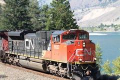 Canadese Nationale (CN) Treinmotor Stock Fotografie