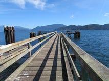 Canadese Pier Ocean View Fotografie Stock