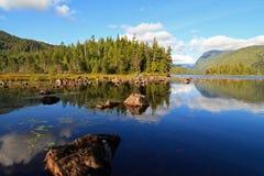 Canadese rivier Ladscape Stock Foto