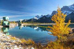 Canadese Rocky Mountain Autumn Landscape Immagini Stock Libere da Diritti