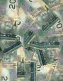 Canadese twintig dollarsrekeningen Stock Foto