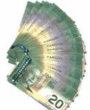 Canadese venti fatture del dollaro Immagini Stock