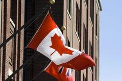 Canadese vlag Royalty-vrije Stock Fotografie