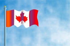 Canadese Vlag stock illustratie