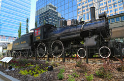 Canadese Vreedzame Spoorweglocomotief 29 in Calgary Royalty-vrije Stock Fotografie