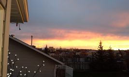 Canadese warme zonsondergang Royalty-vrije Stock Foto's