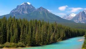 Canadese wildernis in Banff Nationaal Park, Canada Royalty-vrije Stock Foto's