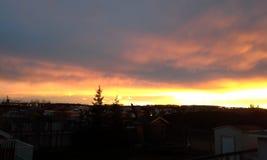 Canadese zonsondergang Royalty-vrije Stock Afbeeldingen