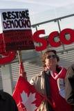 Canadezen voor Democratie Stock Foto