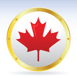 Canadian. Vector illustration of the maple leaf Royalty Free Stock Photo