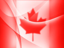 Canadian Abstract. Canadian colors abstract Mac-styled background banner image Stock Illustration