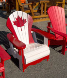 Canadian Adirondack Chair Stock Photo