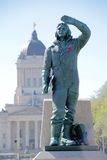 Canadian Airmen Statue Royalty Free Stock Images