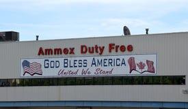 Canadian - American Border in Detroit Michigan