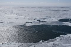 Canadian Arctic. Aerial view of the packice in the Canadian Arctic Stock Photos